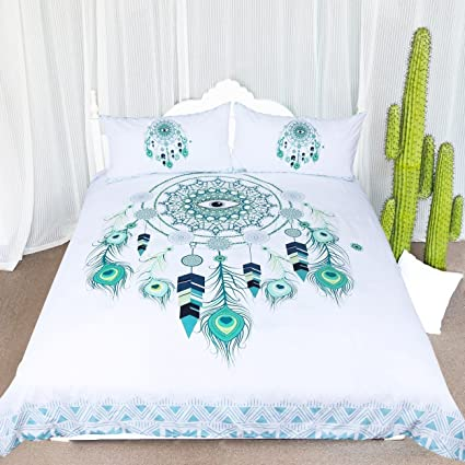 Amazon ARIGHTEX Blue Green Dreamcatcher Bedding 40 Pieces Awesome Dream Catcher Comforter