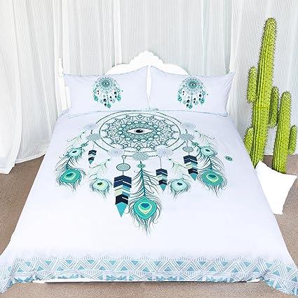 Amazon ARIGHTEX Blue Green Dreamcatcher Bedding 40 Pieces Amazing Do Dream Catchers Get Full