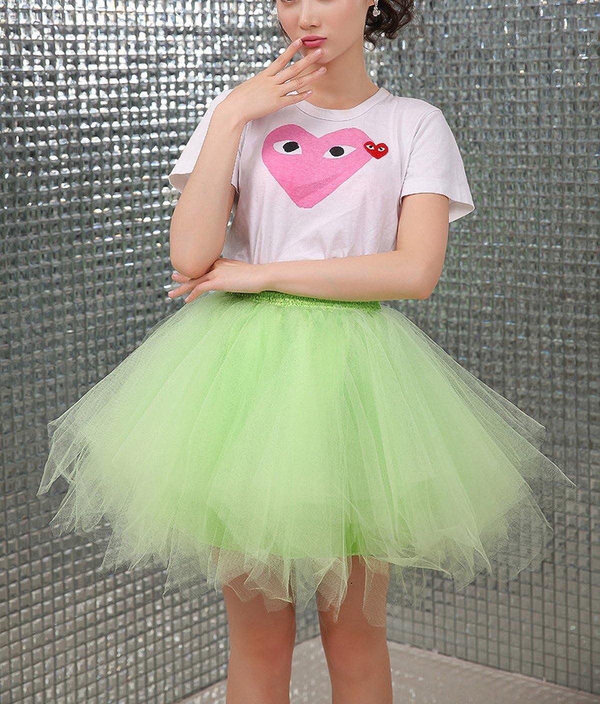 bf0c28ec30 FEOYA Mujer Adultos Falda de Ballet Skirt Princesas Tutú de Tul para Baile  Disfraces Fotografía Fiesta Ampliar imagen