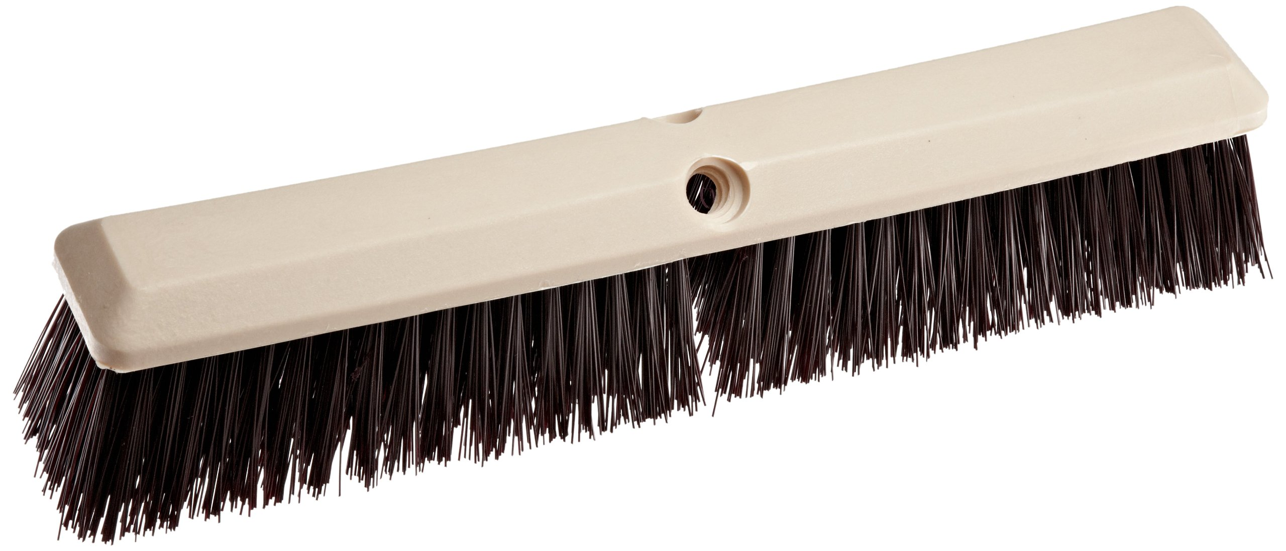 Weiler 42167 Polystyrene Coarse Sweep Floor Brush with Wood Handle, 2-1/2'' Handle Width, 18'' Overall Length, Natural