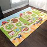 Baby Care Play Mat Foam Animal Floor Gym, Busy Farm, Large