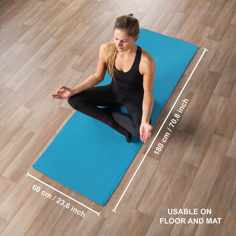 Ultrasport Toalla de Yoga Antideslizante - Toalla de Pilates de Microfibra
