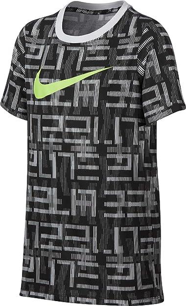 4983f065 Amazon.com | Nike Boys' Dry Elite Print Basketball T-Shirt(Dark Grey ...