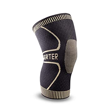 8e9f412869 Berter Knee Support for Men & Women, Copper Ion Non-Slip Knee Compression  Brace