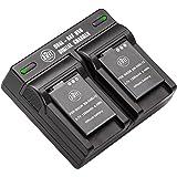 BM Premium 2 EN-EL12 Batteries & Dual Charger for Nikon Coolpix A1000 B600 W300 A900 AW100 AW110 AW120 AW130 S6300 S8100…