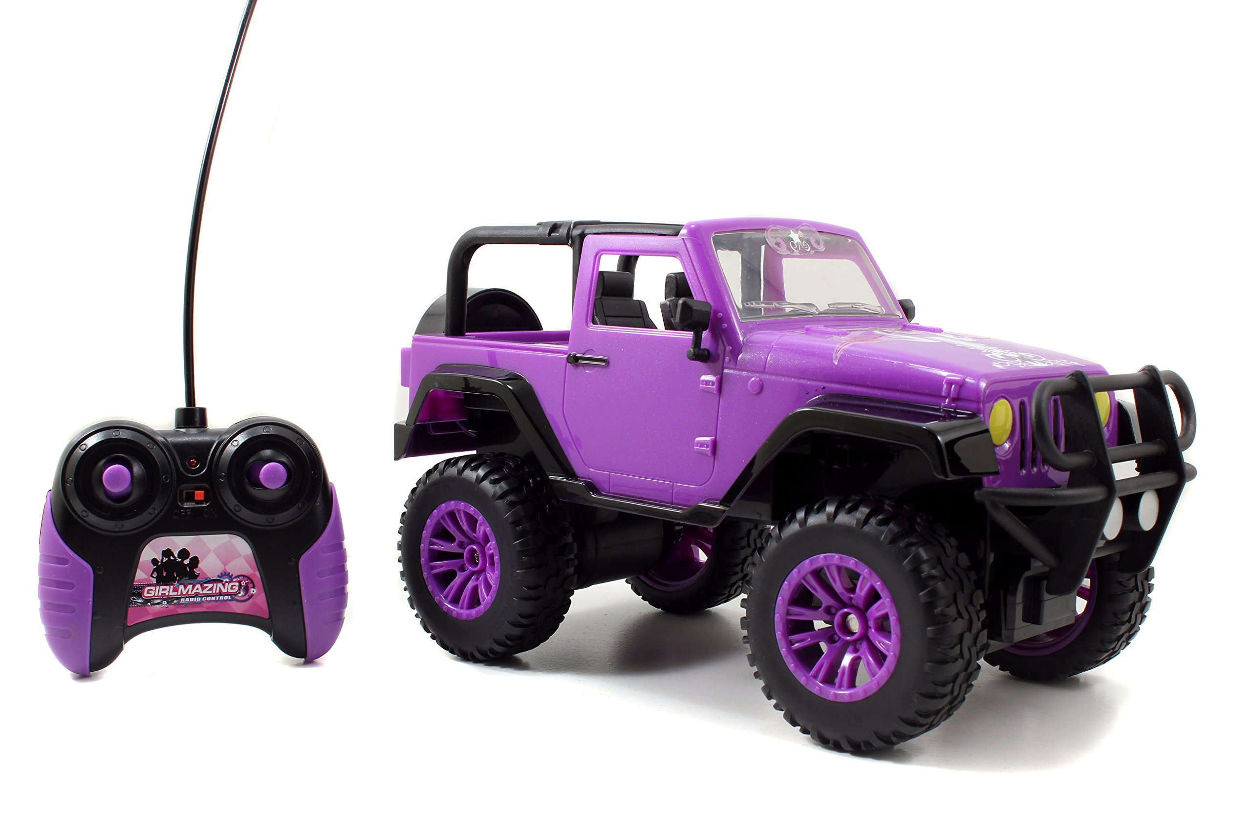 Jada Toys GIRLMAZING Big Foot Jeep R/C Vehicle (1:16 Scale), Purple by Jada Toys (Image #1)