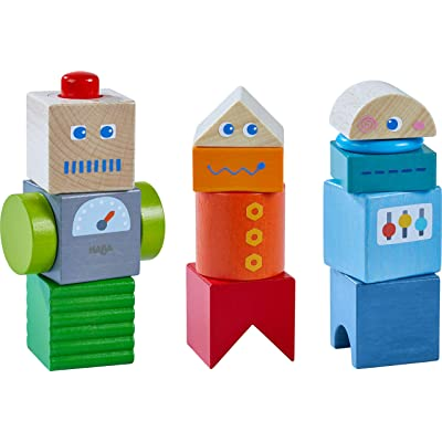 HABA Discovery Blocks Robot Friends - 9 Unique Colored Cubes with Visual & Acoustic Affects (Made in Germany): Toys & Games