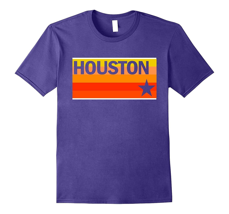 Houston Baseball Throwback Astro Stripe T-Shirt-T-Shirt