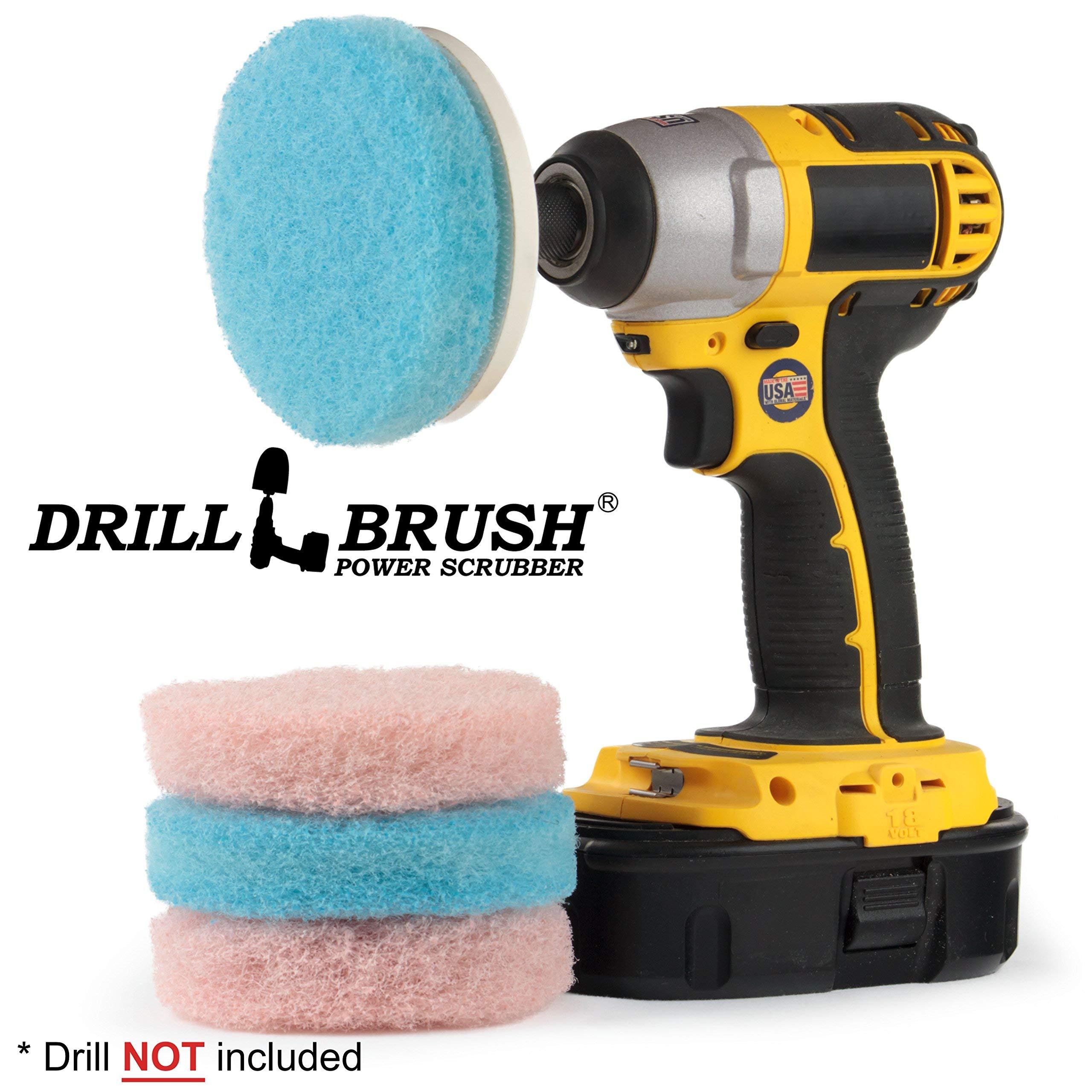 Drill Brush - Cleaning Supplies - Bathroom Accessories - Scrub Pads - Shower Cleaner - Bathtub - Bath Mat – Bathroom Sink - Scrubber - Hard Water Stain Remover - Glass Cleaner - Shower Door Cleaner