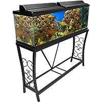 Aquatic Fundamentals Metal Aquarium Stand (55 Gallon, Black)