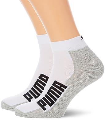 867da5d45 2 Pairs Puma Unisex Cushion Sole Quarter Training Socks: Amazon.co.uk:  Clothing