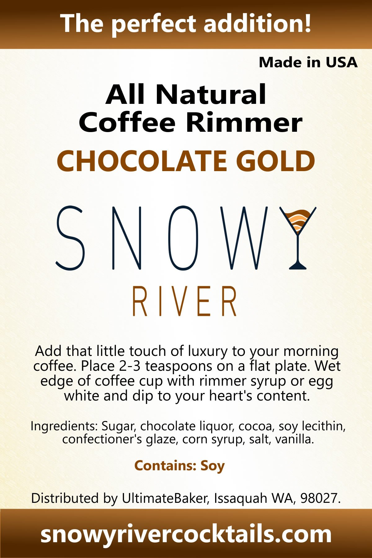 Snowy River Coffee Rimmer (Chocolate Gold, 5lb) by Snowy River