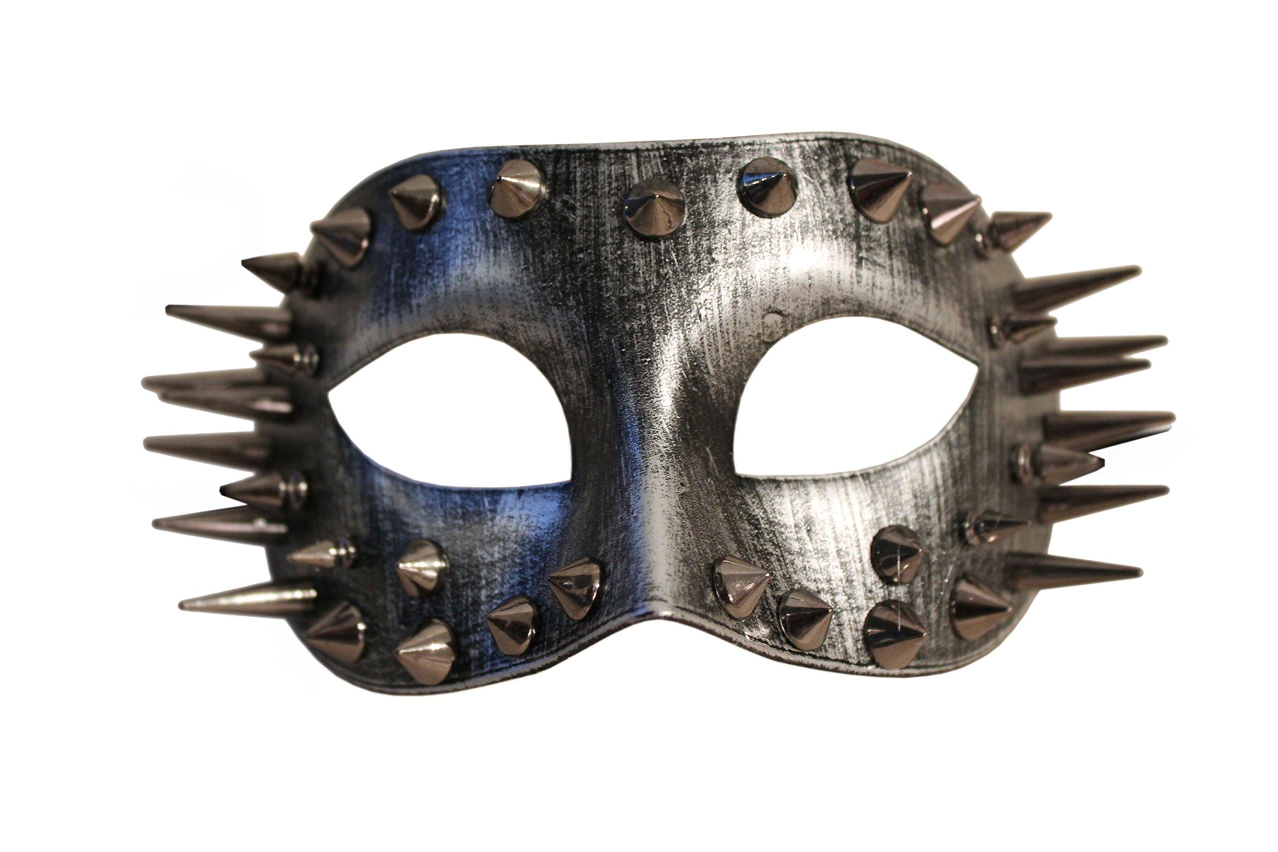Thunder Market Roman Warrior Venetian Costume Mask - Silver