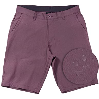 1143ea6f9b Hybrid Shorts for Men Quick Dry Stretch Lightweight Golf Short/Boardshort  (Burgundy-30