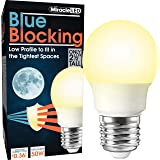 MiracleLED 604677 3W Blue Blocking Light, Low Profile Replacing Old, Hot 50W Incandescent Bulbs, Amber Glow
