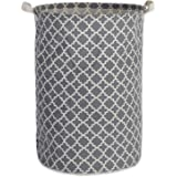 DII Cotton/Polyester Basket Laundry Hamper, 13.75x13.75x20, Gray