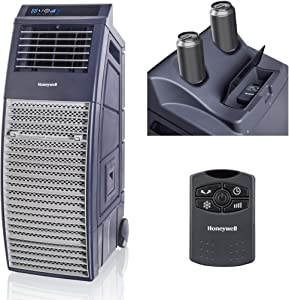 Honeywell, Gray 830-1000 CFM Outdoor Portable Evaporative Cooler with Powerful High Pressure Blower for Large Spaces, CO301PC