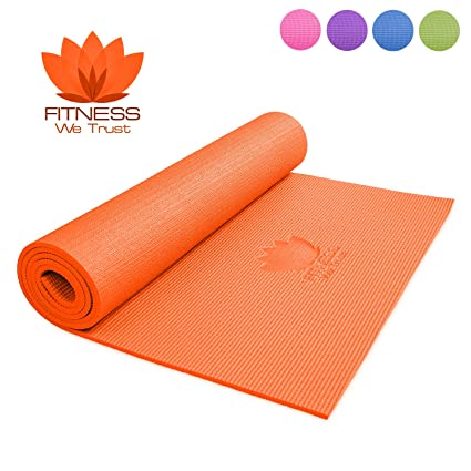 Esterilla de yoga de Fitness We Trust, 6 mm de grosor ...