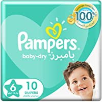 Pampers Baby-Dry Diapers, Size 6, Extra Large, 13+kg, 10 Count