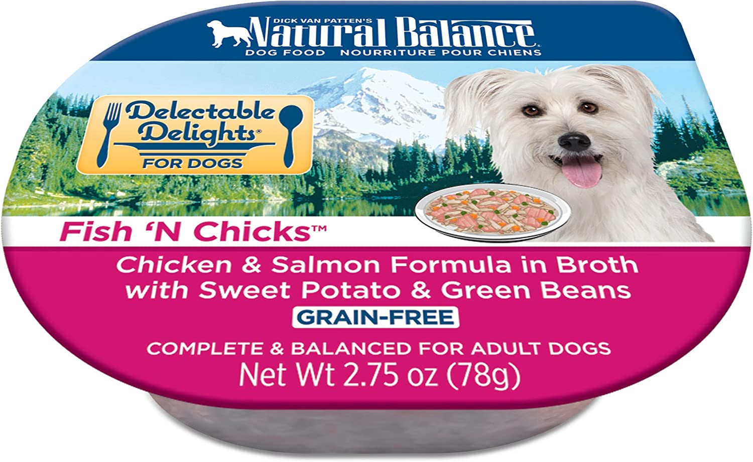 Natural Balance Delectable Delights Wet Dog Food, 2.75 Ounce Cups (Pack of 24)