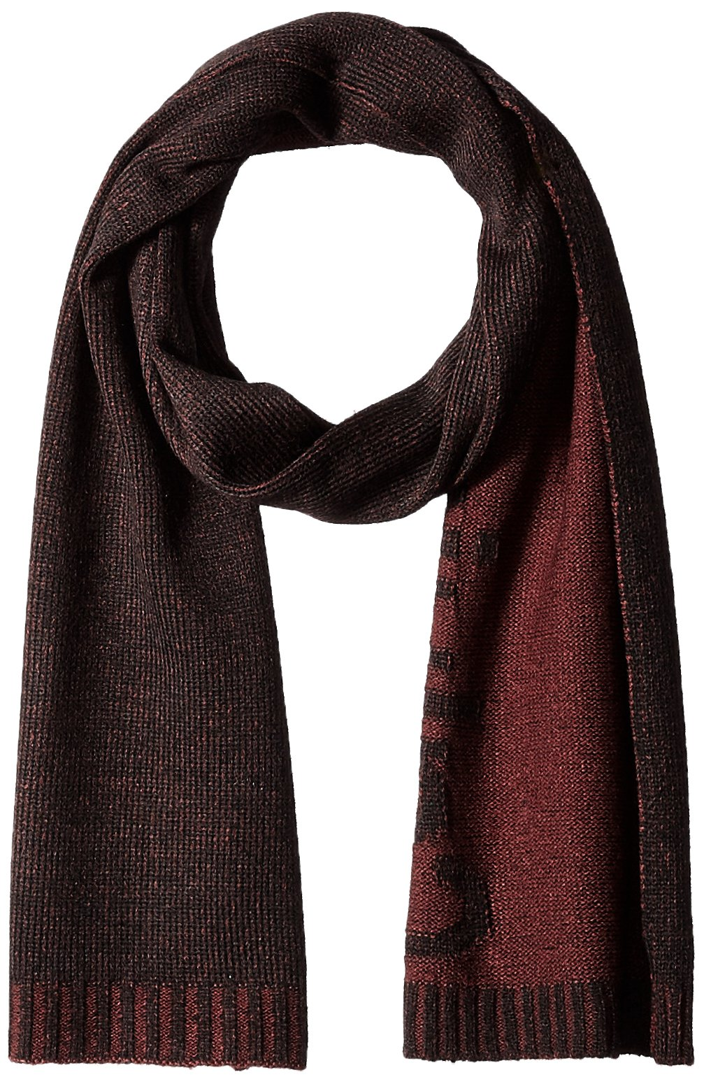 Calvin Klein Men's Chunky Wave Scarf, Spiced Red, One Size