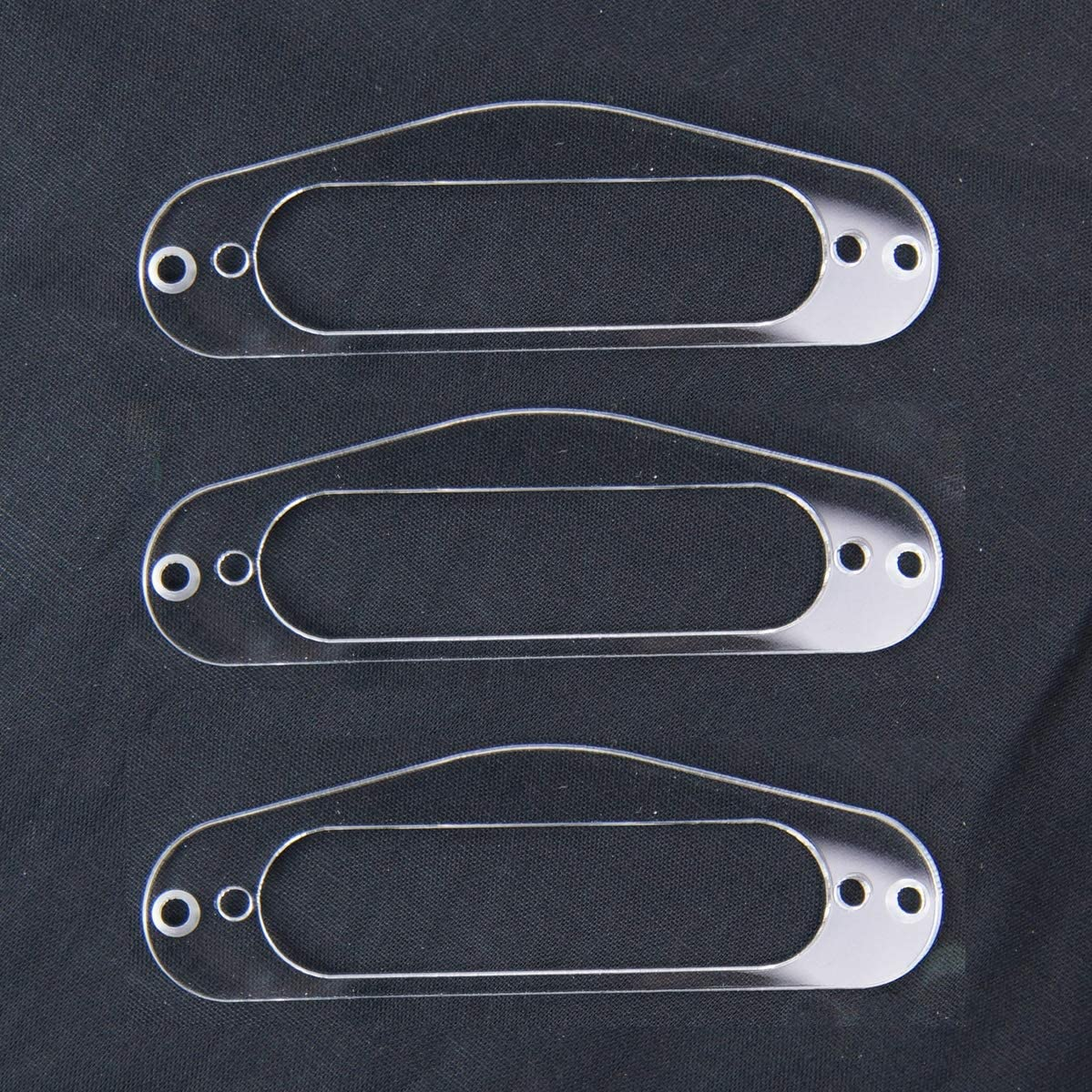 Clear Transparent 3x Pickup Mounting Ring Plate for Regular Single-coil Guitar Pickup