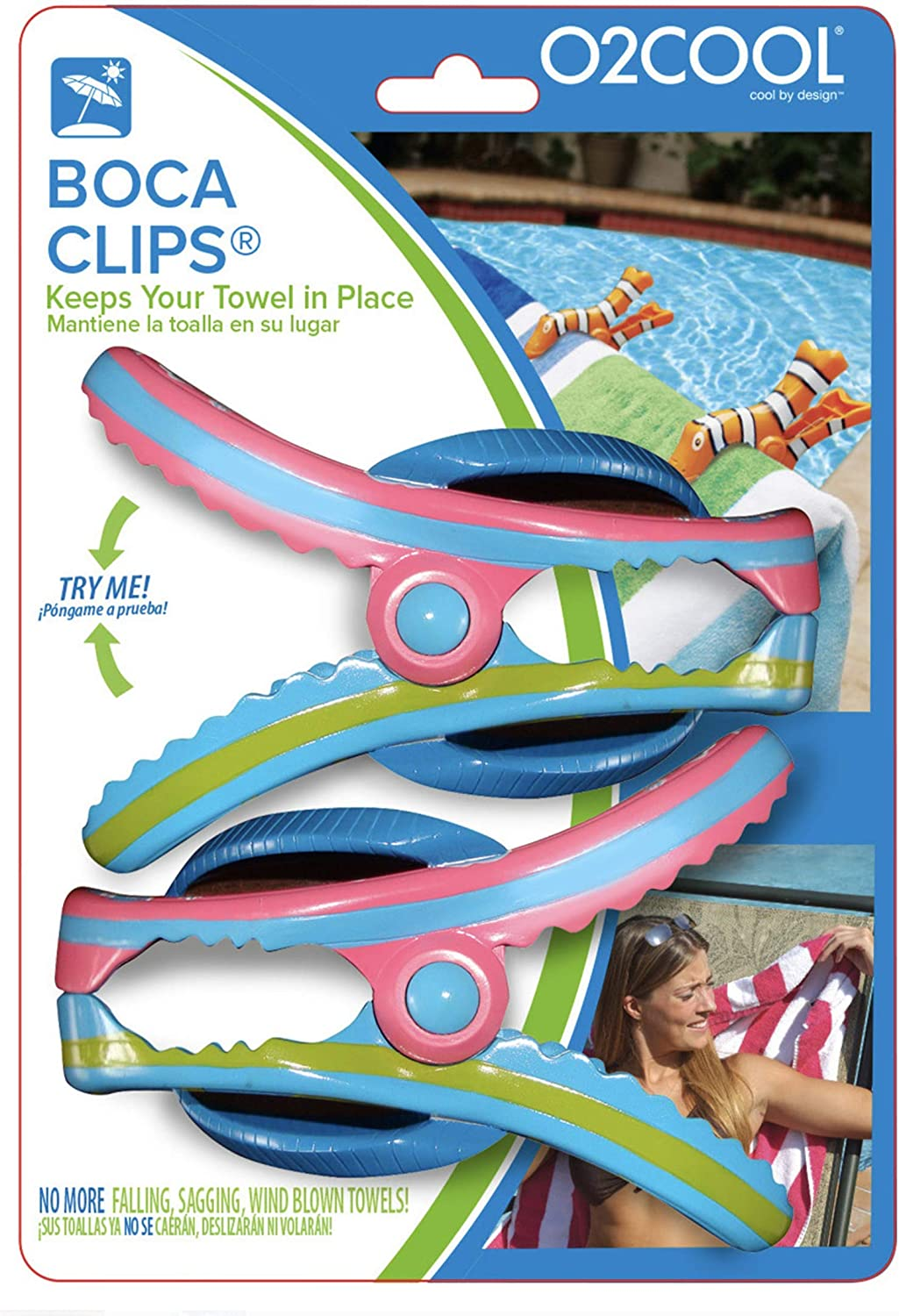 O2COOL Flip Flop BocaClips by 2 Packs of 2 Clips