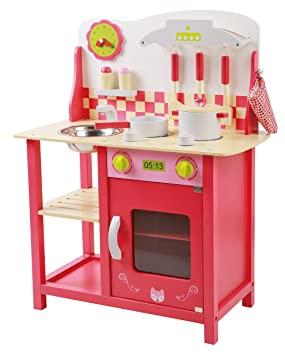 Attirant Childrens Toy Kitchen Set, Hob Lights Up And Makes Cooking Noises, With  Over 29 Pieces Of ...