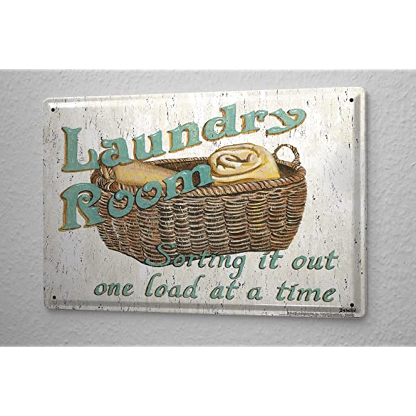 Refranes Cartel de chapa Placa metal tin sign Laundry Room ...