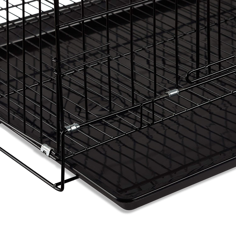 37 x 47 x 32 cm Relaxdays Jaula Perro Plegable con Asa Metal Negro S