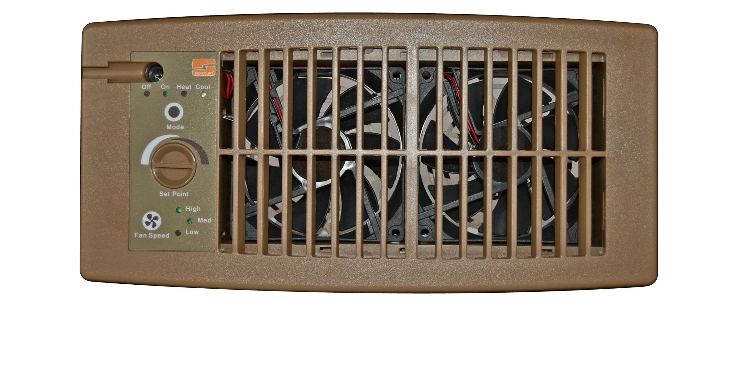 Suncourt hc500 b flush fit brown register booster fan only for How to improve airflow in vents