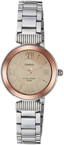 a061d12336b Image Unavailable. Image not available for. Colour  Casio Enticer Ladies  Analog Rose Gold Dial Women s Watch-LTP-E405D-9AVDF