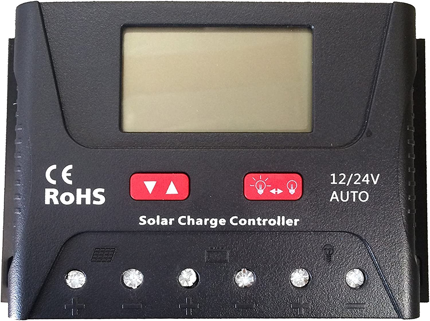 HQST 2 Packs 100 Watt 200W 12 Volt Monocrystalline Solar Panel Kit with 30A PWM LCD Common Postive Solar Charge Controller, 20Ft 12AWG Solar Cable, 2 Sets Z-Brackets, MC4 Branch Connectors