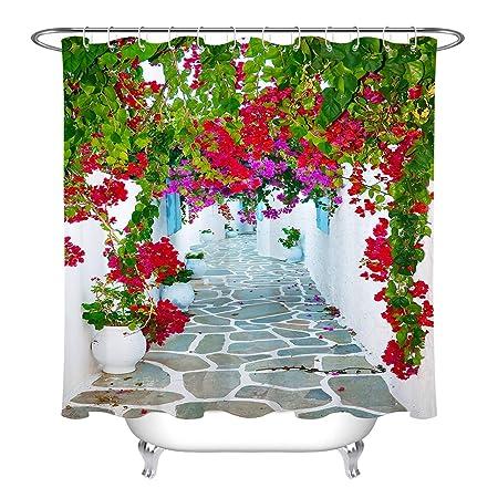 LB Flores en Las estrechas Calles del Mediterráneo Cortina de ...