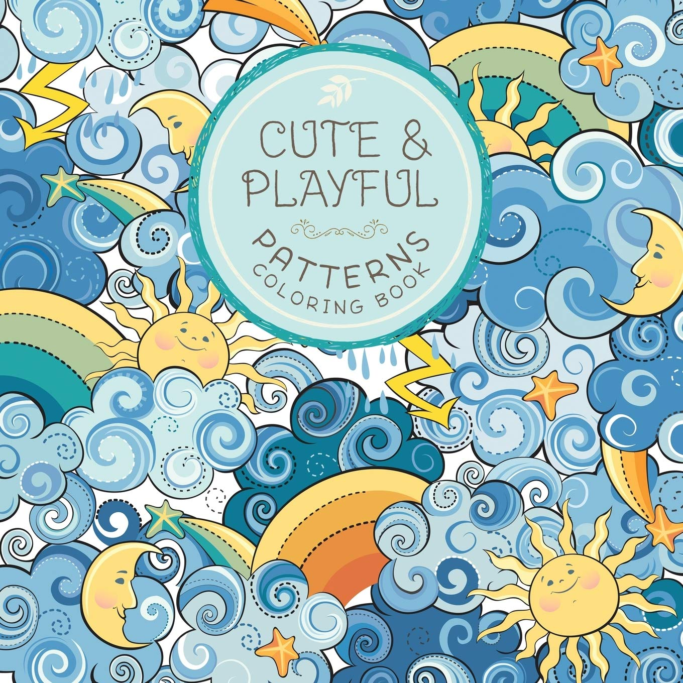 Cute Playful Patterns Coloring Book product image