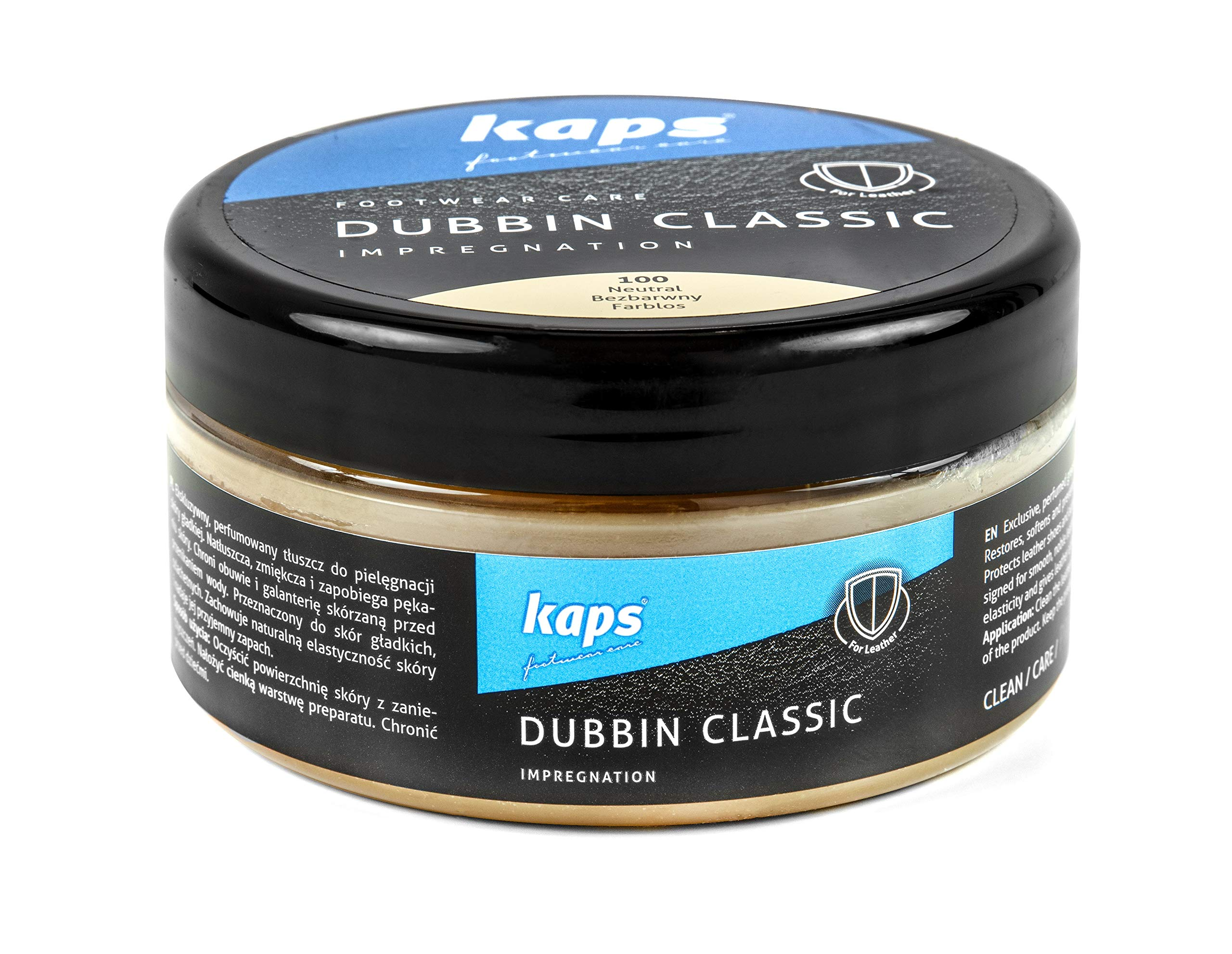 Kaps Wax Grease Dubbin Classic - Waterproofs Softens and Preserves Leather - Leaves Pleasant Fragrance - for Shoes Boots Equestrian Saddles Horse Tack Leather Goods 200 ml - 6.76 fl. oz. by Kaps
