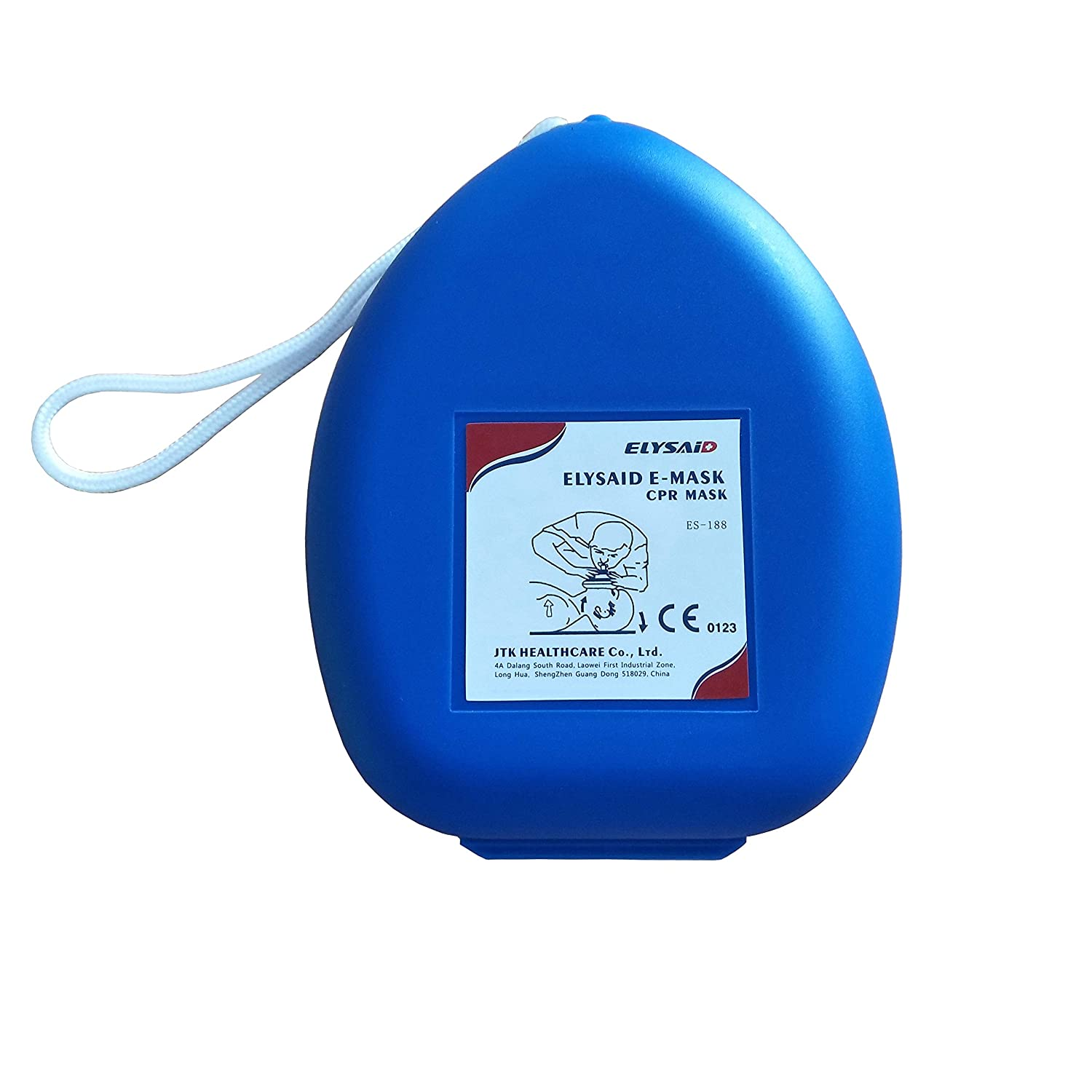 1pcs First Aid CPR Rescue Adult and Child Face Shield Mask Face Shield Oxygen Inlet In Box