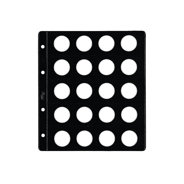 20/alojadores Pardo 77300/ /Pack of 12/Pockets Coins Type Skylight
