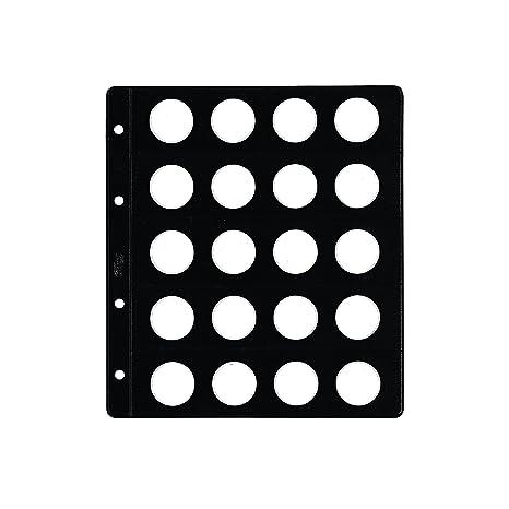 Pardo 77300 - Pack de 12 fundas monedas tipo claraboya, 20 alojadores