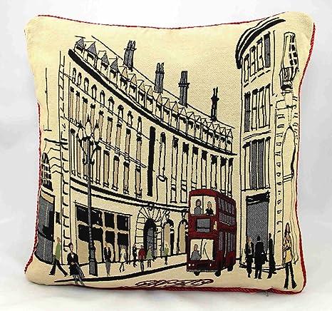 Amazon.com: Regent Street Londres Retro Tapestry fundas de ...