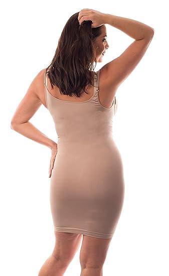 9e124eea51a94 Full lenth Body Shaping Slip firm control Italian Shapewear for Tummy Waist  Thighs   Bottom  Amazon.co.uk  Clothing