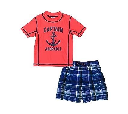c1204f60ca Amazon.com: Carter's Baby Boys' Captain Adorable Rashguard Set 12 ...