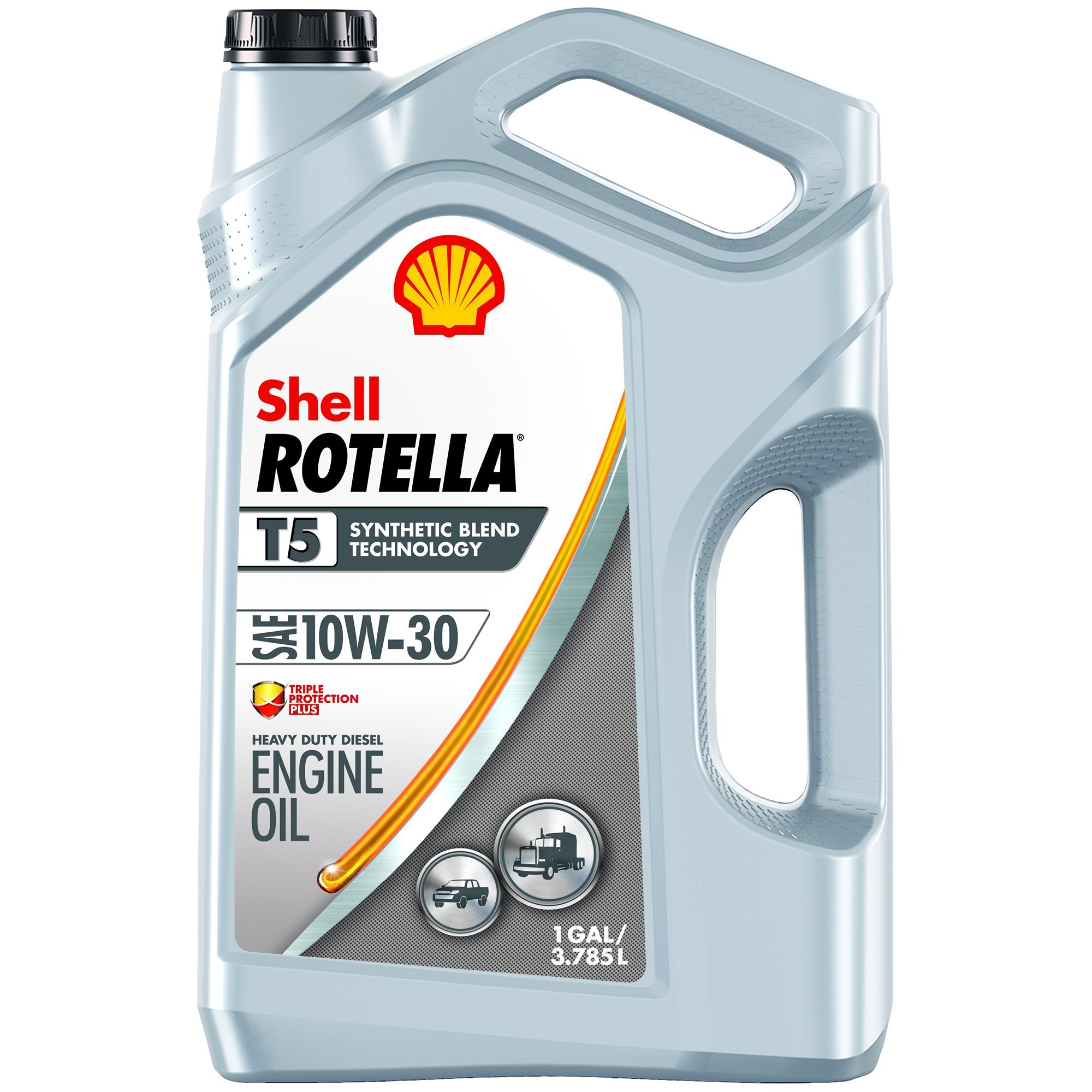 Shell ROTELLA T5 10W-30 Synthetic Blend, Heavy Duty Engine Diesel Oil, 1 Gallon by Shell Rotella T