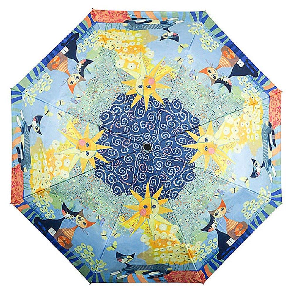 VON LILIENFELD Parapluie Automatique Pliant Mini Femme Motif Art Chat Rosina Wachtmeister Dolce Vita