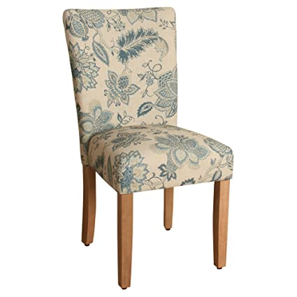 Surprising Homepop Parsons Classic Upholstered Accent Dining Chair Set Of 2 Blue Jacobean Bralicious Painted Fabric Chair Ideas Braliciousco