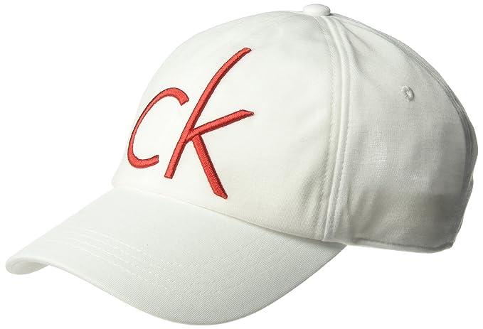 Calvin Klein Hombres Gorra de béisbol - Blanco - Talla única ...