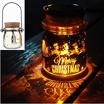 Amazon Com Inext Led Solar Glass Mason Jar Lights Festive