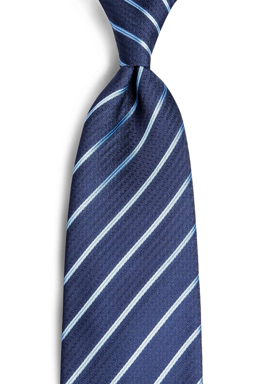 DiBanGu Mens Formal Necktie Silk Stripe Solid Tie and Pocket Square Cufflinks Set Business Wedding Prom