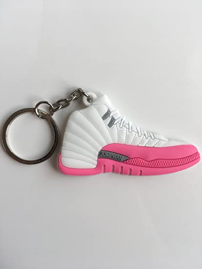 5b7ee291e373ff Amazon.com   Jordan Retro 12 Dynamic Pink Sneaker Keychain Shoes Keyring AJ  23 OG   Sports   Outdoors