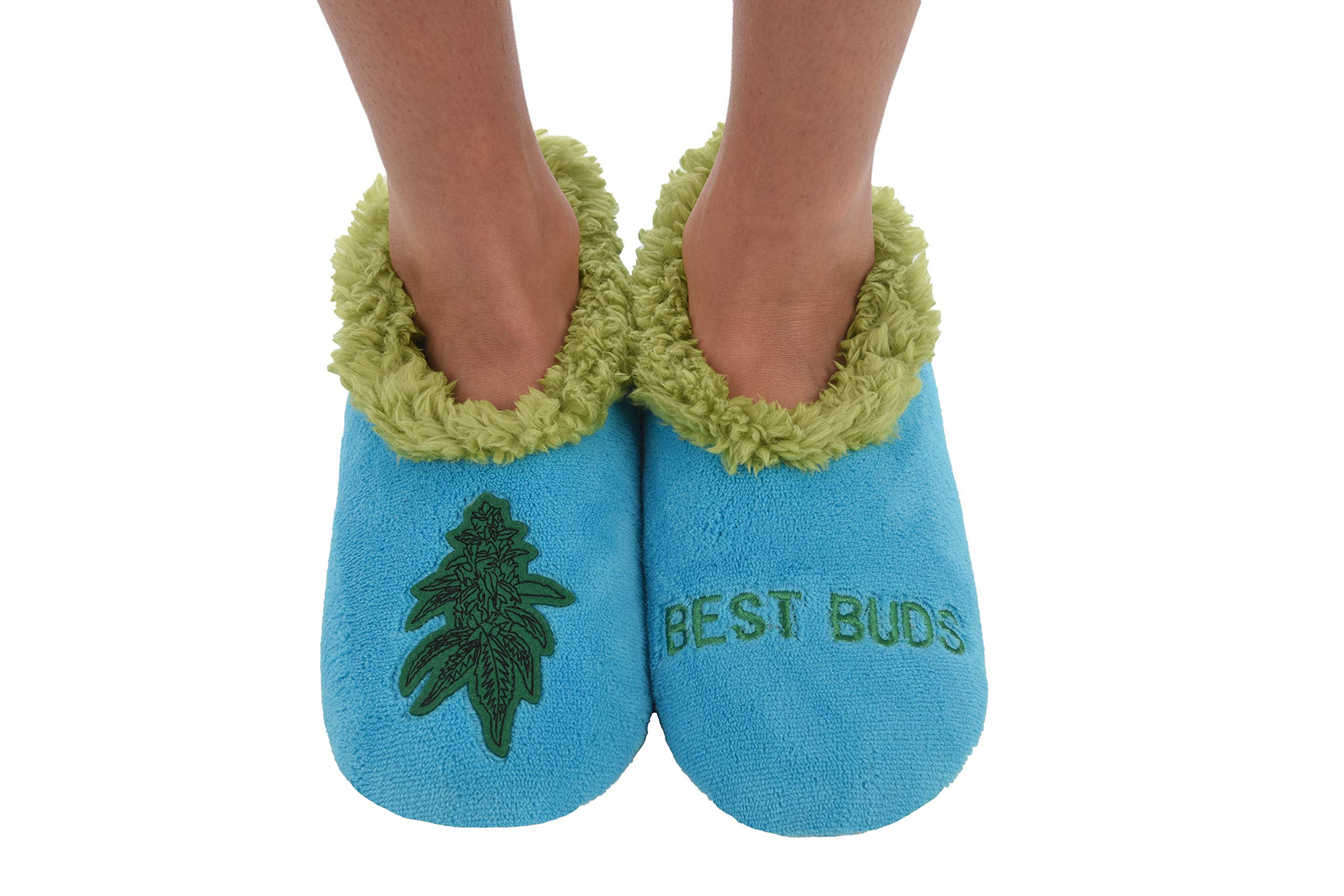 Snoozies 420 Mens Slippers | Slippers for Men | Best Buds | Small